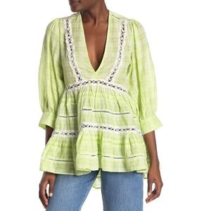 Free People Time Out Lace Tunic Top